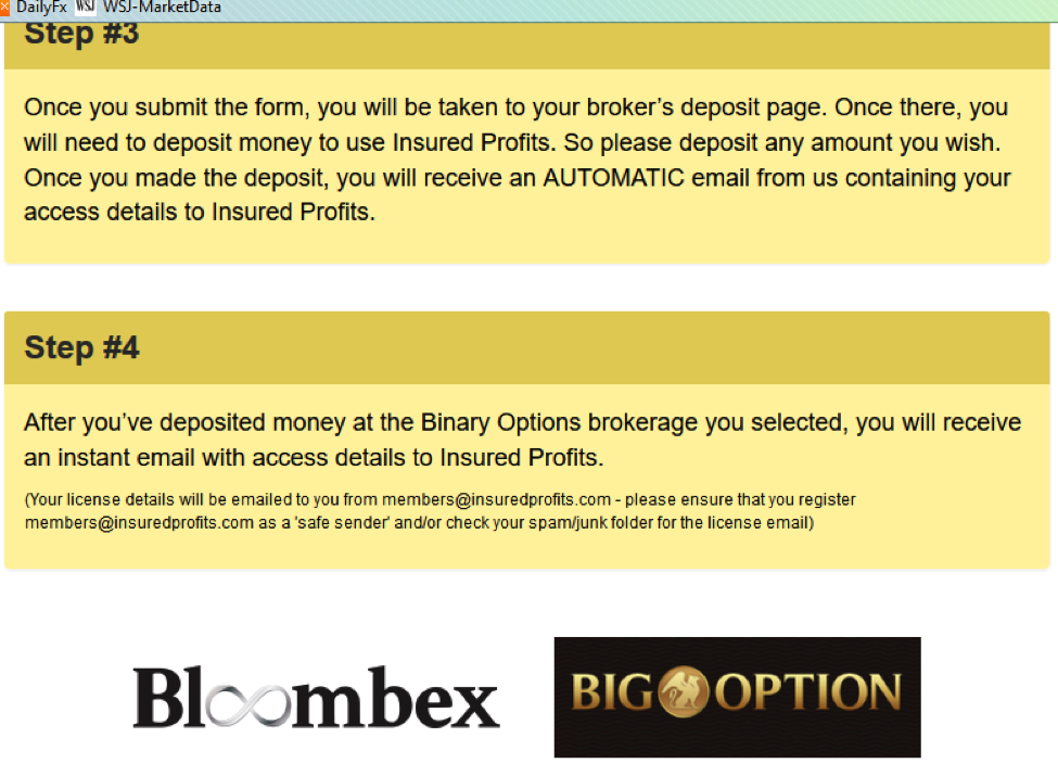 Binary options trading insured profits