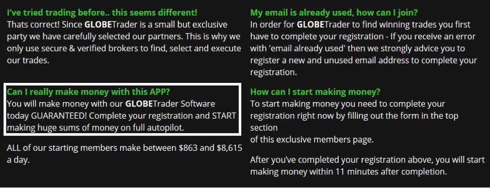 Globe Traders Algorithm Review - Conflicting Statements