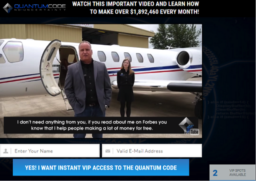 Quantum Code Review - Meeting the Fake Millionaire, Michael Crawford