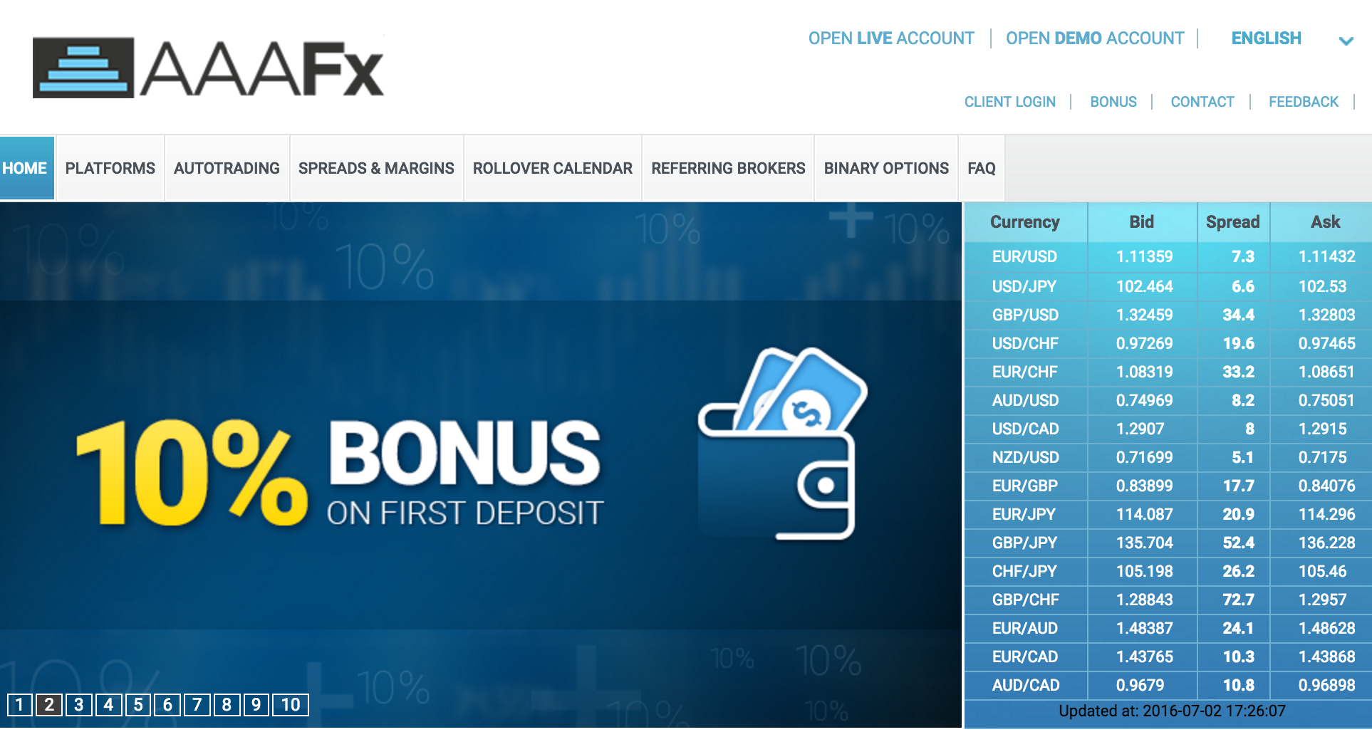 AAAFx Forex Cash Back Rebate Program