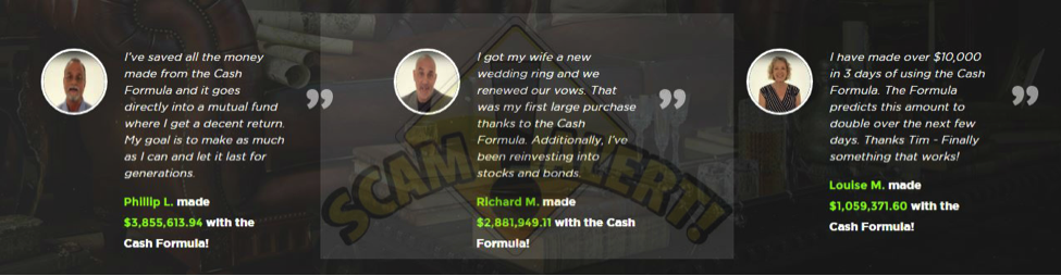 CashFormula.com Review - Fake Review and Testimonials