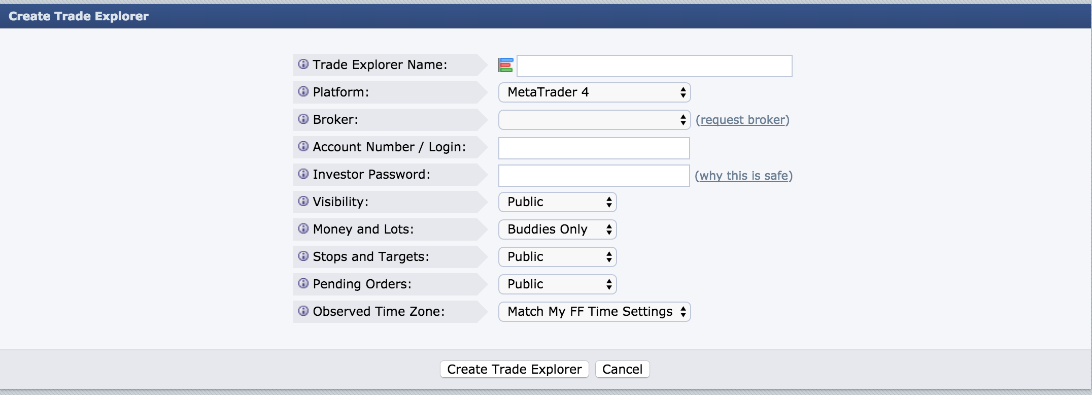 Connect Your MT4 Account to Forex Factory Trade Explorer to Start Keeping track of your trades