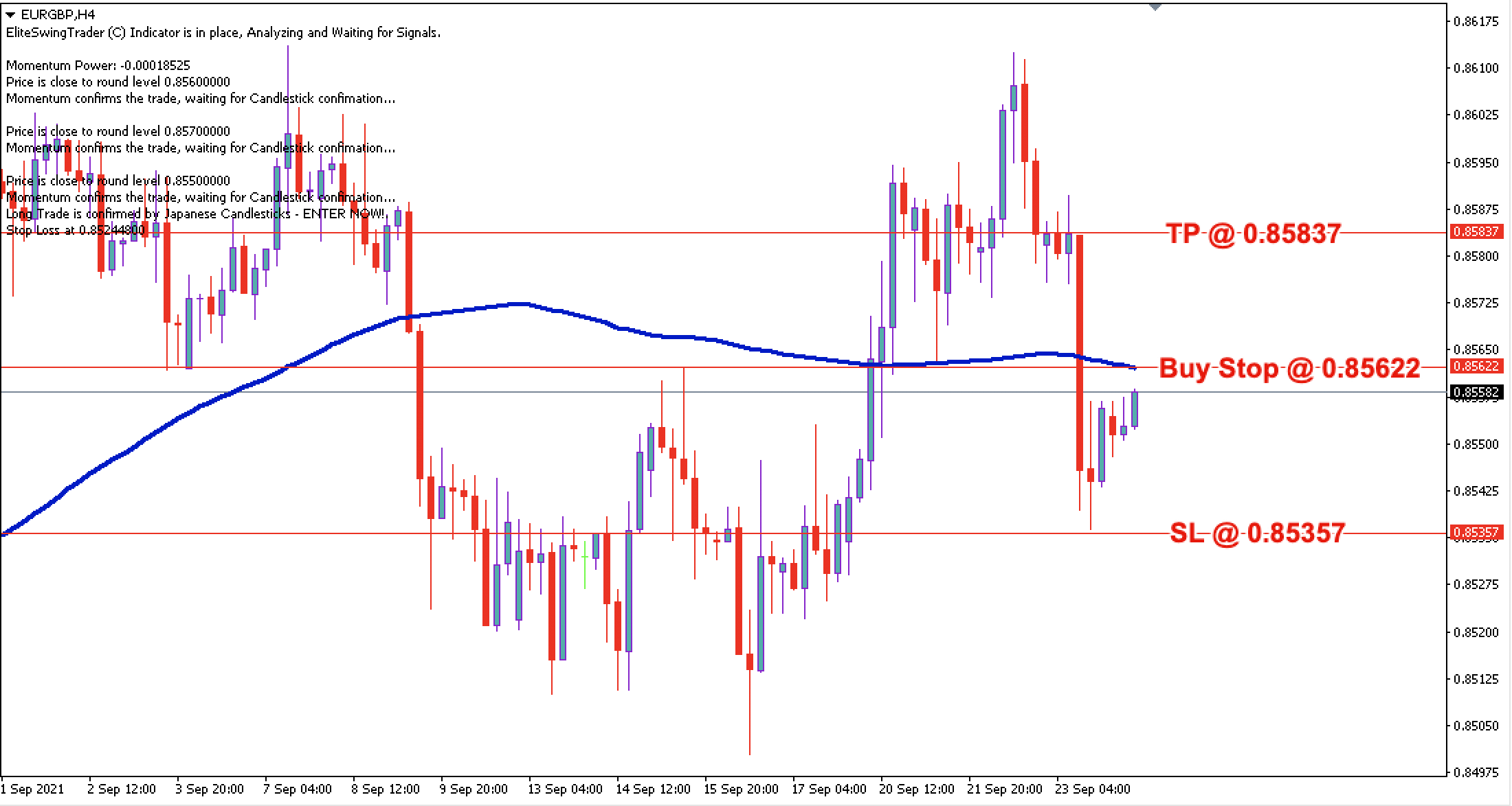 EUR/GBP Daily Price Forecast – 24th Sept 2021